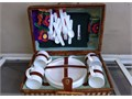 Picnic Basket with utensils and plates and Cups