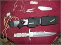 Survival Knife Buckmaster 184  50000 everything entacked except for compass has bonus US military