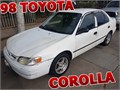 WHITE 1998 TOYOTA COROLLA RUNS REALLY GOOD MANUEL WINDOWS MILEAGE 227000SLAVAGE TITLE COL