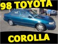 1998 TOYOTA COROLLA BLUERUNS GOOD NO ENGINE OR TRANSMISSION PROBLEMS NO LEAKS CURRENT REGIST