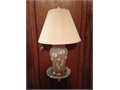 Beautiful Designer Table Lamp  Pretty Hand-Painted Design on Frosted Glass  Lo