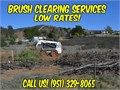 We offer professional brush clearing brush mowing fire clearance weed abatement land clearing l