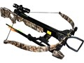 Raging River 225 lbs camo recurve crossbow 330 fps wt 7 lbs length 395 3 bolts wfield pts