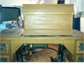 W9 Wheeler  Wilson ornate early Victorian coffin top treadle sewing machine with wooden stand and 4