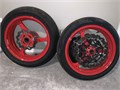 Honda CBR600RR Wheels 300 for rims and tires Powder Coated Honda Red They look new in person 60