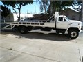 1994 Ford F700 Flat Bed Stake Body with Ramps and Ladder Bar Extensions 8 Cyl 429 CI Gas Engine 5