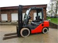 2015 Toyota Pneumatic 6000 LB Capacity Forklift Diesel Powered Inside Outside Unit Solid Pneumat