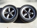 4 Wheels  tires 2 275R40-17 and 2P235R40-17 Tires on Mustang GT Rims
