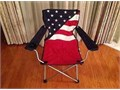 FOLDING CHAIR Camping Beach Outdoor Camping American Flag RED White and Blue design with separate f