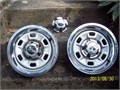1973 chev nova 1973 CHEV NOVA 2 RALLY WHEELS 14X6 -2 rings -3center hubs 12500 814-266-3685