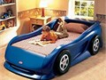Little Tykes Blue Race Car Bed excellent condition complete