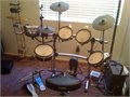 Roland electronic drum set with seat less pedals Yamaha pads included as extra as part of deal Fir