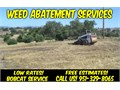Lets Clear that Hazard Weeds and Brush Now We offer weed abatement through bobcat mowing of a vaca