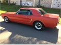 Selling 1965 Ford Mustang classic 6 cylinder automatic orange barn outside black interior all origin