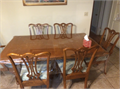 Dining Set with four chairs  Two arm chairs Table   45 x 72 x 35H has extra two 20  extension
