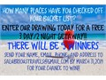ENTER THE DRAWING UNTIL MARCH 31st  NO STRINGS ATTACHED PROMOTION FOR NEW TRAVEL COMPANY SALUBR