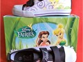 Disney Fairies Youth Sneakers  Tennis Shoes Black Purple Size 13 NEW IN BOX Tinkerbell graphics
