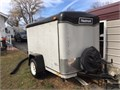5X8 ENCLOSED HAULMARK TRAILER  WITH A PORTABLE ALUM LOADING RAMP GOOD TIRES STAYS DRYNEW WIRING