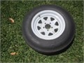 Wheel  Tire for a trailer tire is a ST20575D15  load range C great condition 75 tread no side