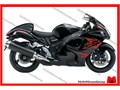 This is only a complete fairing set for Suzuki HAYABUSA GSX1300R motorcyclesIt is brand new afterm