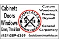 INSTALL NEW OR REMODEL CABINETS DOORS WINDOWS TRIMS BASE ETCREMOVE WALLS ADD WALLS ARCH C