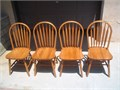 4 Windsor back chairs