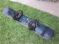 QUEST 154cm SNOWBOARD with Lamar  Large Ratchet bindings  GREAT CONDITION minor scratches on the bo