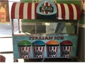 Refrigerated Food Vendor Mobile Cart w hotcold sink Adjustable canopy Works great Canopy needs