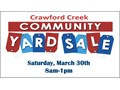 Crawford Creek Community Yard SaleOver 600 homes in the neighborhood with substantial participat