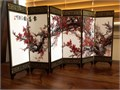 A gorgeous and rare imitation of an ancient Chinese small screen Featuring the famous Four Gent