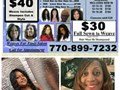 Weaves For ONLY 30 40 50 6030 - Weave Basic Only no Shampoo or StyleI