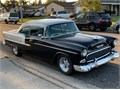 55 BEL AIR 2 DOOR HARD TOP CLEAN INSIDE  OUT NEW TUCK  ROLL INTERIOR 350 AUTOMATIC WITH NEW HEA