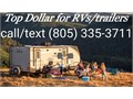 top dollar guaranteed for any type of RV motorhomes class A class B class C travel trailers to