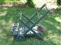 Garden Cart - Hand Made - Painted Green - 3 Extra Wheels -  22 W x33 L Height 30Stored Inside 70