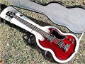 Bass Gibson SG 2004 mint with hard case trade or sell beautiful classic cherry gloss finish lo