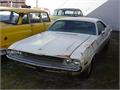 1970 Dodge CHALLENGER Looks like the Vanashing Point  RoadKill Challenger all white original paint