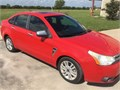 red 2008 Ford Focus SE sedan for sale has 122000 miles 20 liter 4 cylinder engine 4 speed auto t