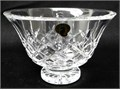 WATERFORD  The Flared CRYSTAL Footed BOWL in the ALANA PatternIt measures 155cm 6-18 outsi