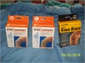 New never used in the original box 2-size Large and 1-size Medium knee bracesupport 500 each