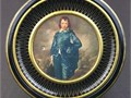 Vintage Biscuit Tin - Blue Boy by Gainsborough Round Shape 12W x 3H USA Made Non Smoking Home