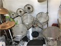 Slingerland only made around 50 of these clear Drum sets Looks good and sounds great Im moving an