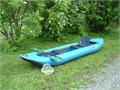 14 SOAR Inflatable Canoe with Caviness paddles  It has been used only a few times and has been sto