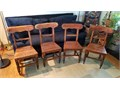 105  Antique table chairs 4 19th Century table chairs from England Email infot2designcom10