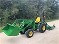 2003 John Deere 4110 TractorLoader 410 equipped with a 60 Bush Hog Mower Deck The machine has bee