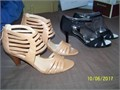 Two pairs of dress womens shoes size 6 1 black  1 tan color Brand new in their original box 50