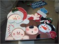 santa and friends peeper 3 each 15 come with lights 1500 814-948-6677 rests on window sill