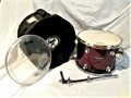 LIKE NEW Ludwig Accent Combo 9 x13 Rack Tom  Wine wrap candy finish  Protection Racket gig