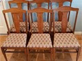 Set of Six Antique Dining Chairs with upholstered seats Manufactured in the early 1900s by Howe Sp