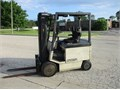Crown 5000 LB Capacity Electric Forklift Model  50FCTT 36 Volt Good Battery Cushion Tires 3 S