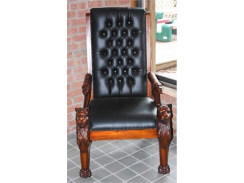 Carved High Back Chair
